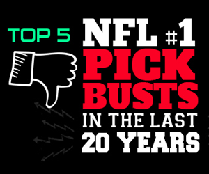 Top 5 NFL #1 Pick Busts in the Last 20 Years by SportsBettingOnline.ag